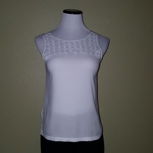 Ann Taylor white sleeveless top XSP